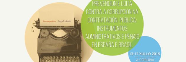 Curso de verano: Prevención e Loita contra a corrupción na Contratación Pública