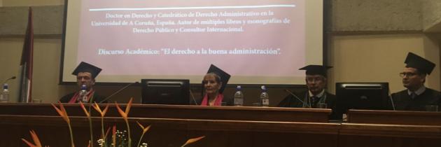 (Español) Jaime Rodríguez-Arana Muñoz es investido Doctor Honoris Causa por la Universidad Escuela Libre de Derecho de Costa Rica